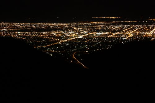 Christchurch lights at night