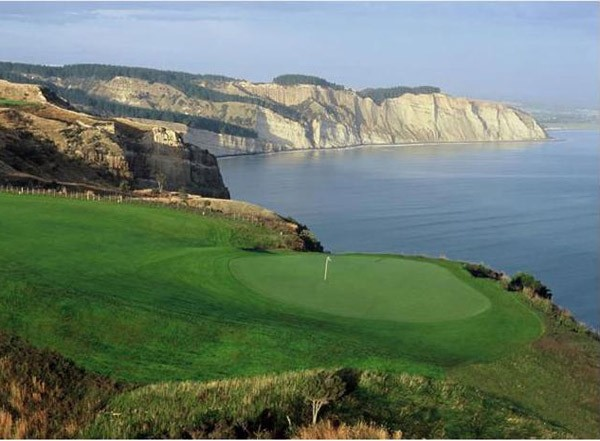 Cape Kidnappers with Golf course in foreground