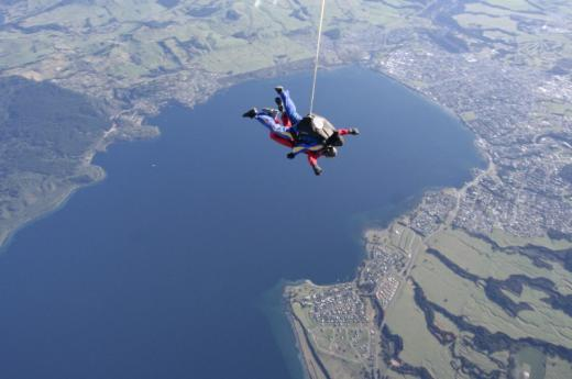 Skydiving over Taupo
