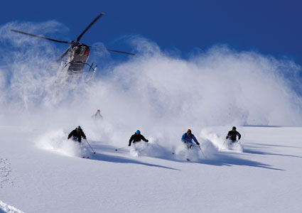 Heli-skiing, Wanaka, New Zealand